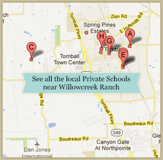 Private School Map - Willowcreek Ranch
